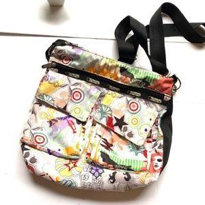 Lesportsac multi color messenger bag -NEW